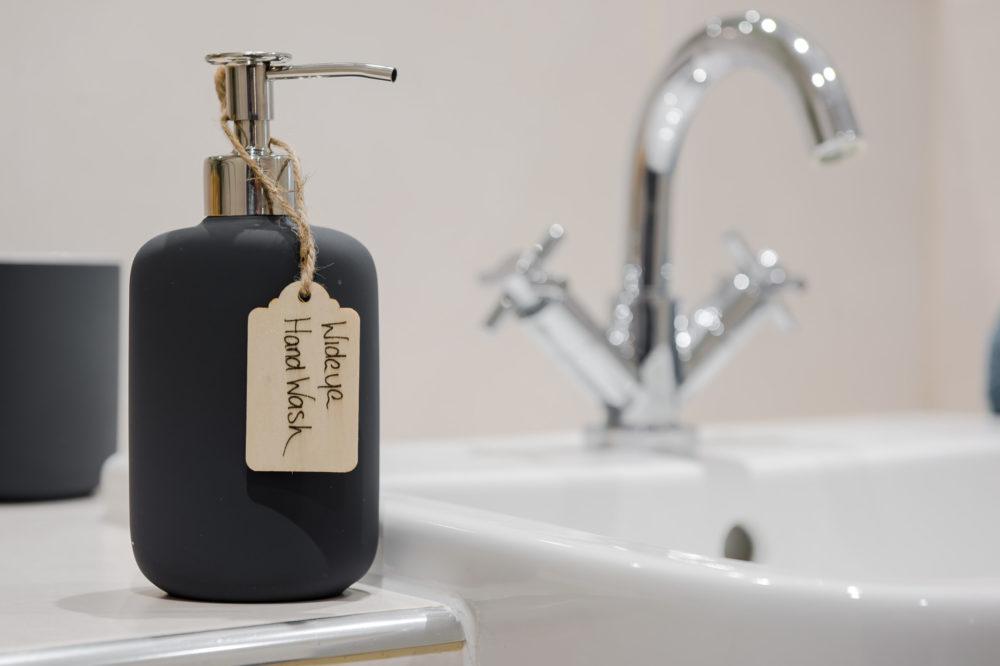 125 bathroom hand wash close up